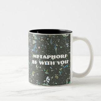 Metaphors be with you - distressed look art mug