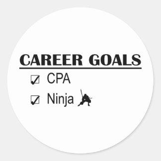 Metas de la carrera de CPA Ninja Etiquetas Redondas