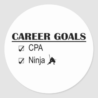 Metas de la carrera de CPA Ninja Pegatina Redonda