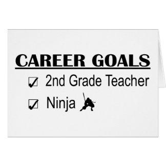 Metas de la carrera de Ninja - 2do grado Tarjeta De Felicitación