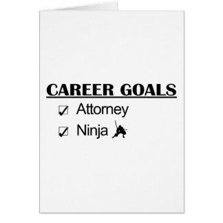 Metas de la carrera de Ninja - abogado Tarjetas