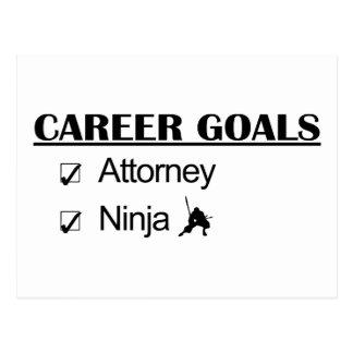 Metas de la carrera de Ninja - abogado Tarjeta Postal