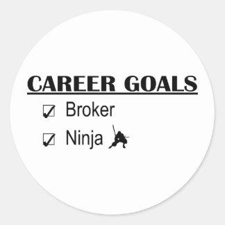Metas de la carrera de Ninja - agente Pegatinas