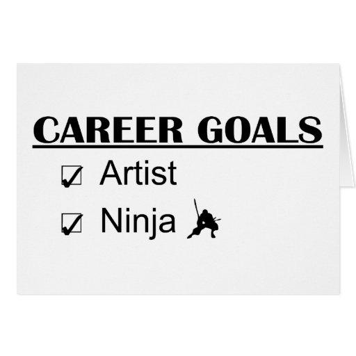 Metas de la carrera de Ninja - artista Felicitación