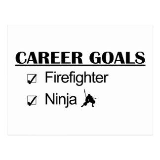 Metas de la carrera de Ninja - bombero Postales