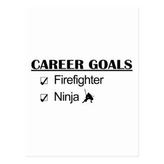 Metas de la carrera de Ninja - bombero Tarjetas Postales