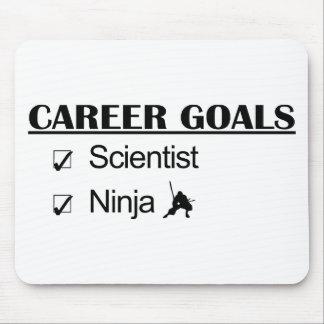 Metas de la carrera de Ninja - científico Alfombrillas De Ratones