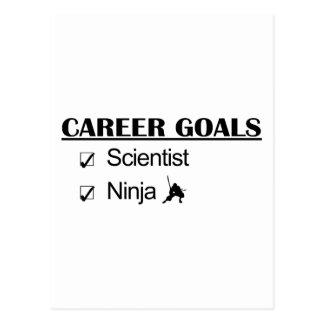 Metas de la carrera de Ninja - científico Tarjeta Postal