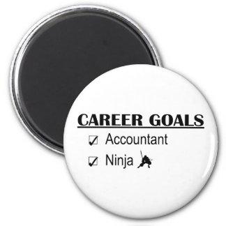 Metas de la carrera de Ninja - contable Imanes Para Frigoríficos