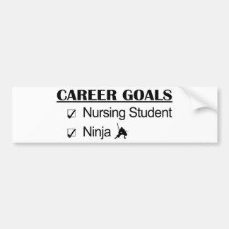 Metas de la carrera de Ninja de la enfermera de es Pegatina De Parachoque