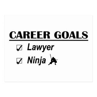 Metas de la carrera de Ninja del abogado Postal