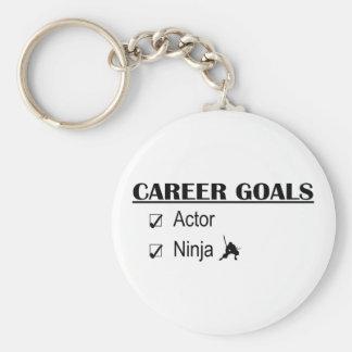 Metas de la carrera de Ninja del actor Llavero Redondo Tipo Pin