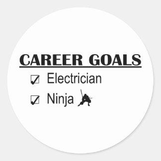 Metas de la carrera de Ninja - electricista Pegatinas Redondas