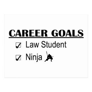Metas de la carrera de Ninja - estudiante de Derec Postales