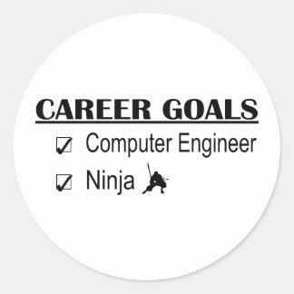 Metas de la carrera de Ninja - ingeniero Etiqueta Redonda