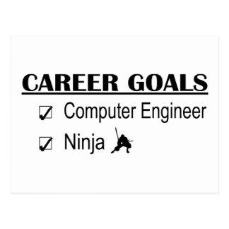 Metas de la carrera de Ninja - ingeniero Tarjeta Postal
