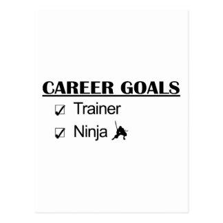 Metas de la carrera de Ninja - instructor Postales
