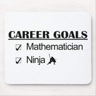 Metas de la carrera de Ninja - matemático Alfombrillas De Ratón