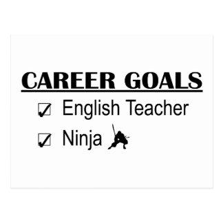 Metas de la carrera de Ninja - profesor de inglés Tarjetas Postales