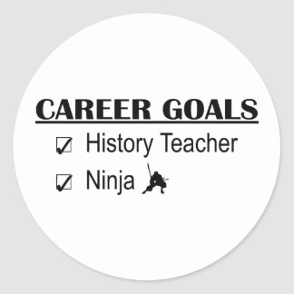 Metas de la carrera de Ninja - profesor de la Pegatina Redonda