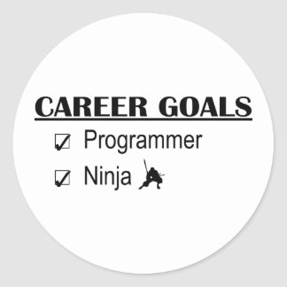Metas de la carrera de Ninja - programador Pegatinas Redondas