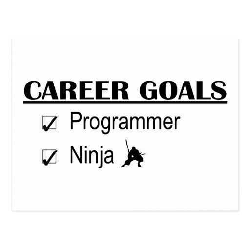 Metas de la carrera de Ninja - programador Postales