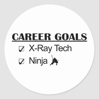 Metas de la carrera de Ninja - tecnología de la Pegatina Redonda