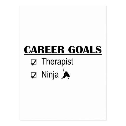 Metas de la carrera de Ninja - terapeuta Tarjetas Postales