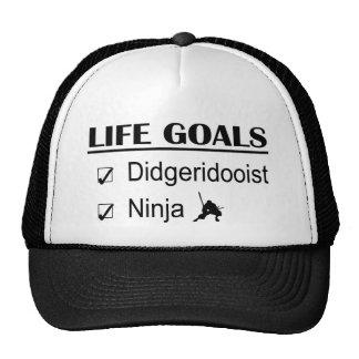 Metas de la vida de Didgeridooist Ninja Gorras