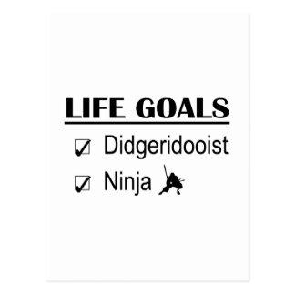 Metas de la vida de Didgeridooist Ninja Postal