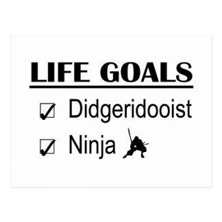 Metas de la vida de Didgeridooist Ninja Postales