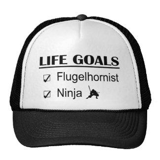Metas de la vida de Flugelhornist Ninja Gorro De Camionero