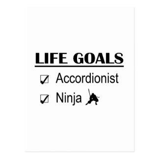 Metas de la vida de Ninja del acordeonista Tarjeta Postal