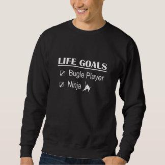 Metas de la vida de Ninja del jugador del bugle Suéter
