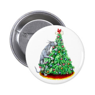 Metas del alcance del navidad de great dane azules pin redondo 5 cm