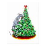 Metas del alcance del navidad de great dane azules postal