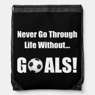 Metas del fútbol mochilas