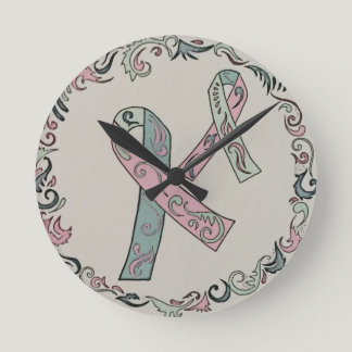 Metastatic Breast Cancer Awareness Round Clock