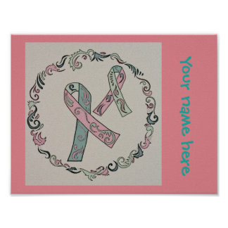 Metastatic Breast Cancer Ribbons Poster