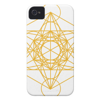 Metatron Cube Gold iPhone 4 Cover