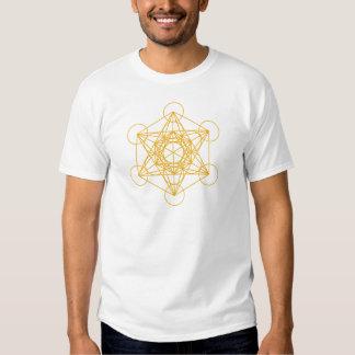 Metatron Cube Gold T Shirt