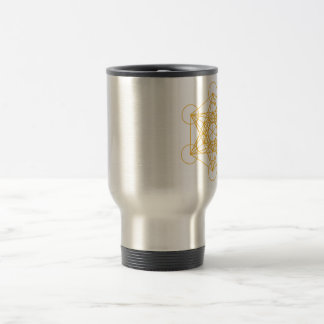 Metatron Cube Gold Travel Mug