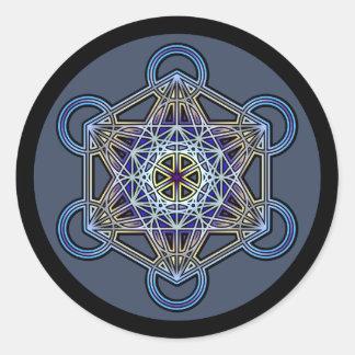 metatron-cube-mandala-3 classic round sticker