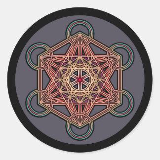 metatron-cube-mandala-4 classic round sticker