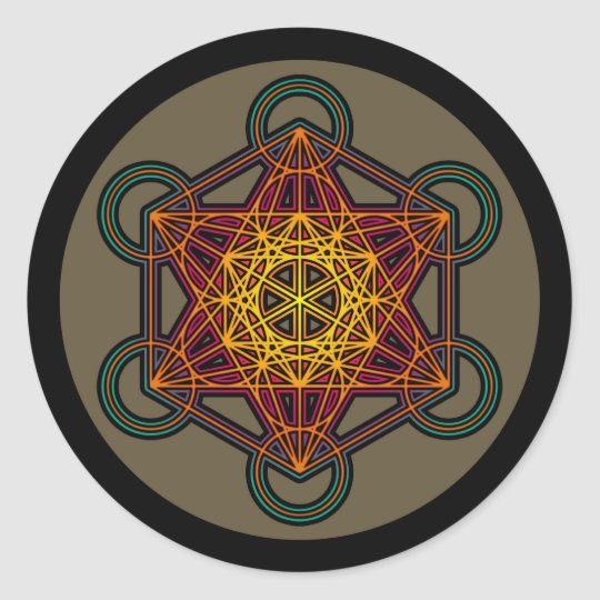 metatron cube mandala sticker