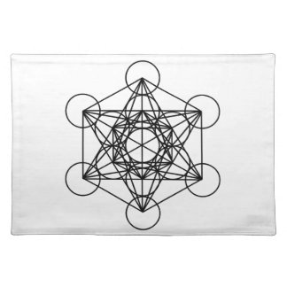 Metatron Cube Cloth Placemat
