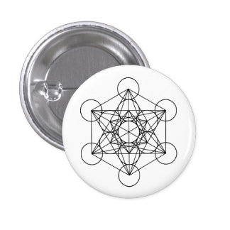 Metatron Cube Sacred Geometry Button
