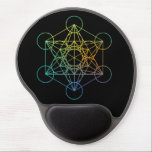 "Metatron Cube Sacred Geometry Gel Mouse Pad<br><div class=""desc"">The Metatron&#39;s Cube is a name for a sacred geometric figure composed of 13 equal circles with lines from the center of each circle extending out to the centers of the other 12 circles. It is also known by some New Age teachers who call a variant of this figure the...</div>"