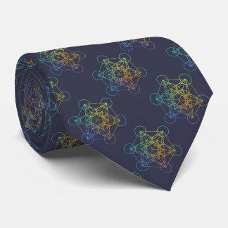 Metatron Cube Sacred Geometry Neck Tie