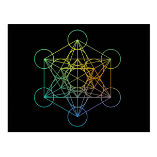 Metatron Cube Sacred Geometry Postcard